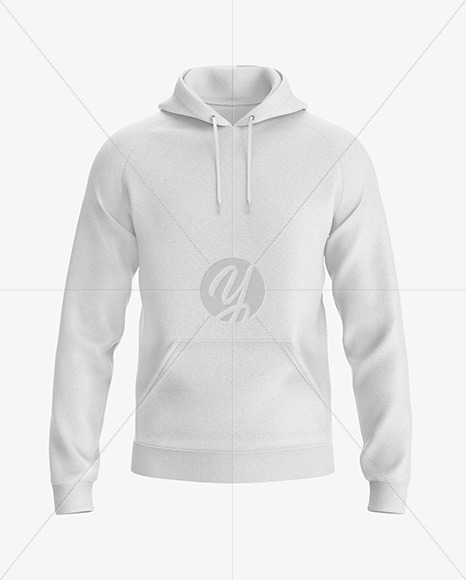 Heather Hoodie Mockup - Front View
