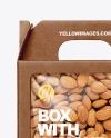 Kraft Box w/ Almond Nuts Mockup