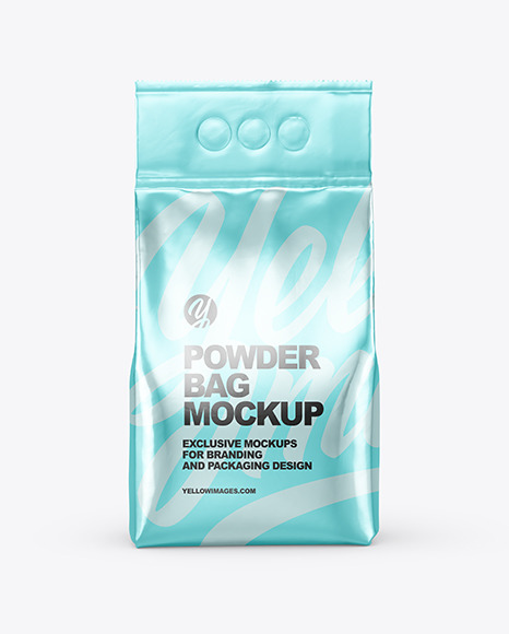 Metallic Powder Bag Mockup