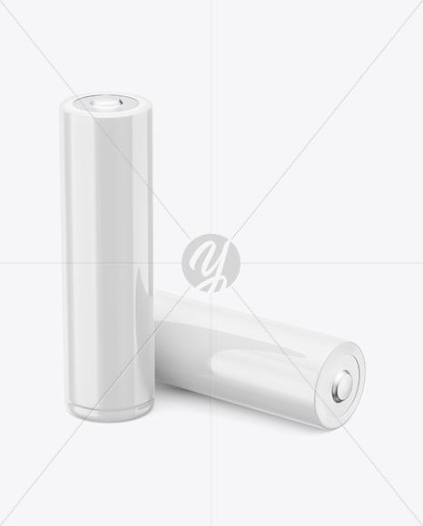 Two AA Batteries Mockup