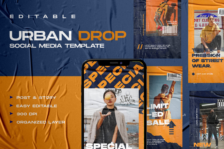 Urban Drop - Streetwear Instagram Stories & Post