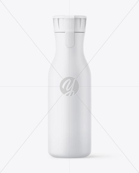 Matte Plastic Bottle With Sticker Mockup