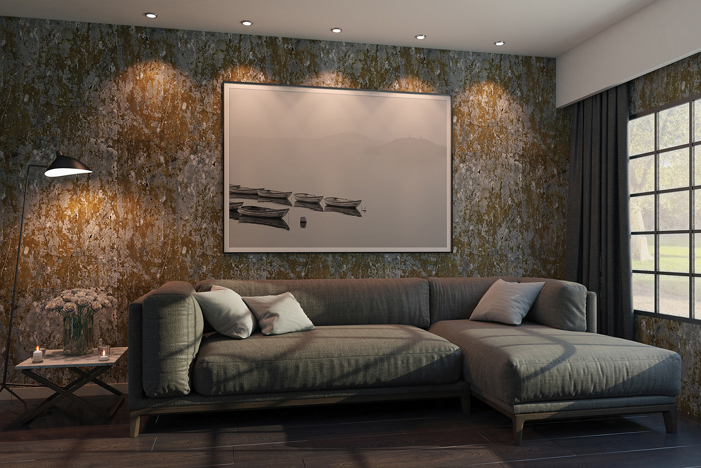 Living Room Poster Mockup