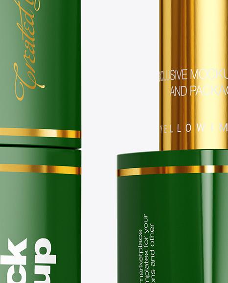 Glossy Square Lipstick Mockup
