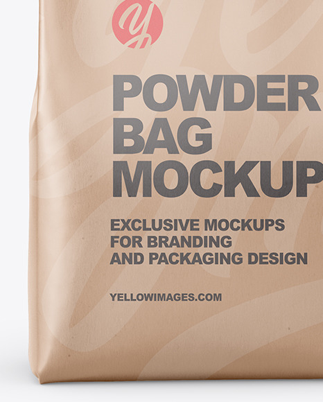 Kraft Powder Bag Mockup