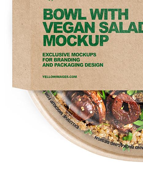 Paper Bowl With Vegan Salad Mockup