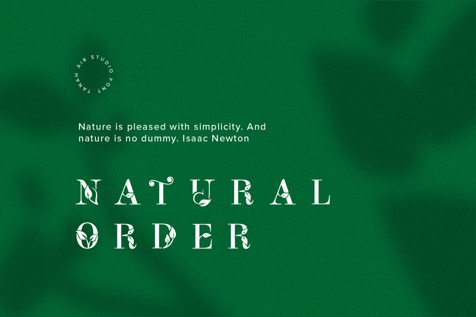 Leafy Logo Font