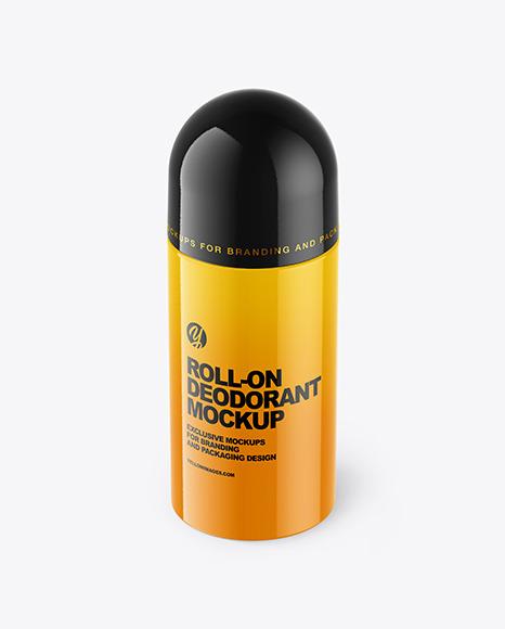 Plastic Glossy Roll-On Deodorant Mockup