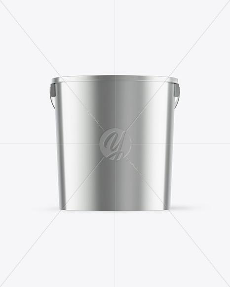 Metallic Bucket Mockup