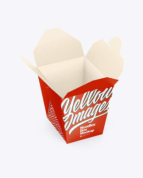 Download Opened Matte Paper Noodles Box Mockup In Box Mockups On Yellow Images Object Mockups