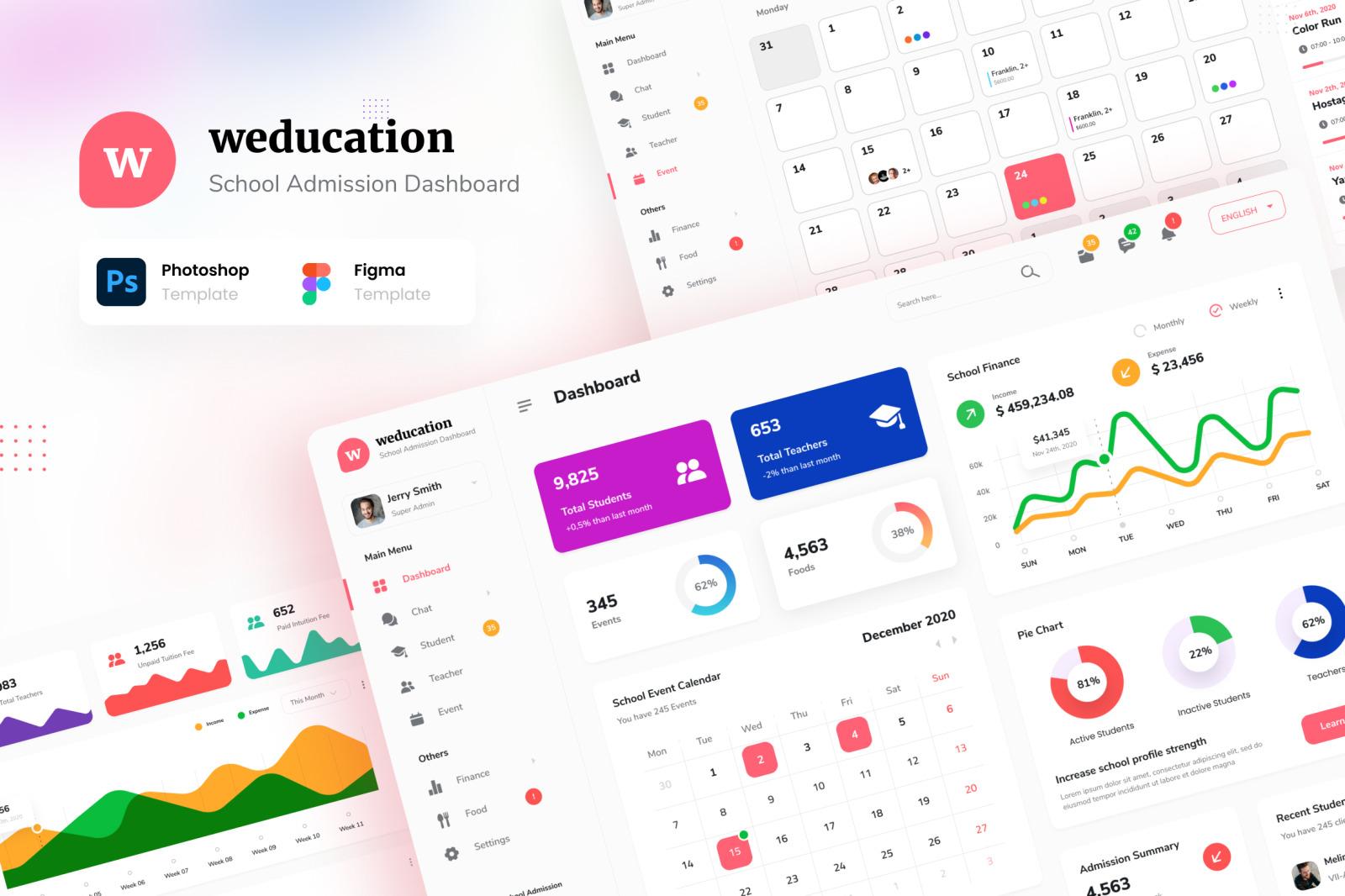 Weducation - School Admission Admin Dashboard UI