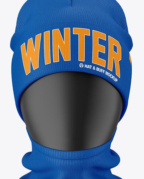 Winter Hat & Buff Mockup