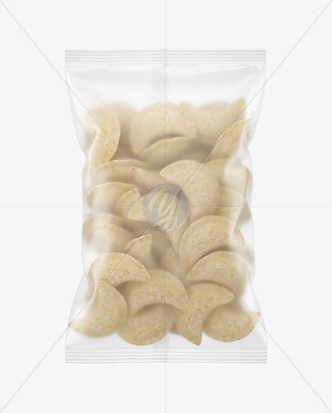 Matte Plastic Bag With Frozen Pierogies Mockup