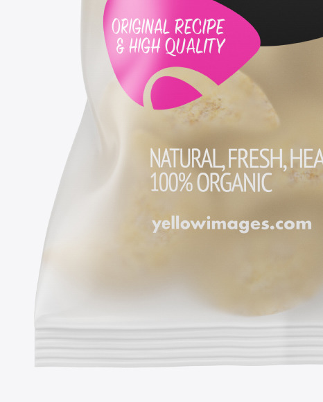 Frosted Plastic Bag With Frozen Pierogies Mockup