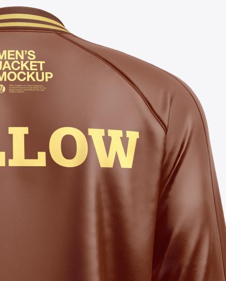 Men's Leather Bomber Jacket Mockup