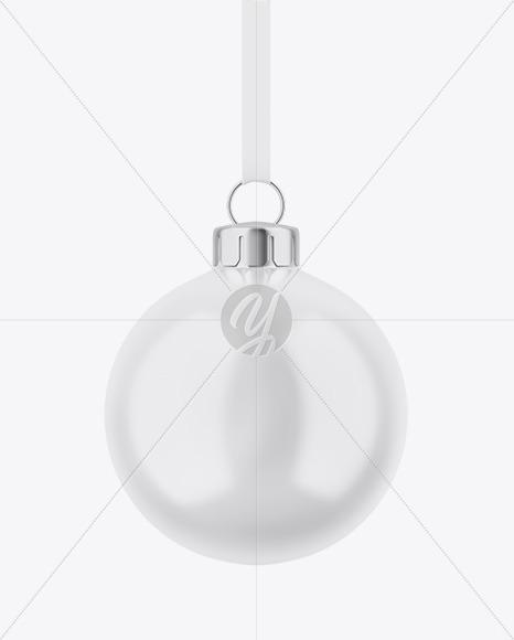 Glossy Christmas Ball Mockup