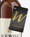 Amber Glass White Wine Bottle With Tube Mockup