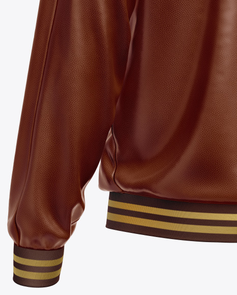 Men's Leather Bomber Jacket Mockup