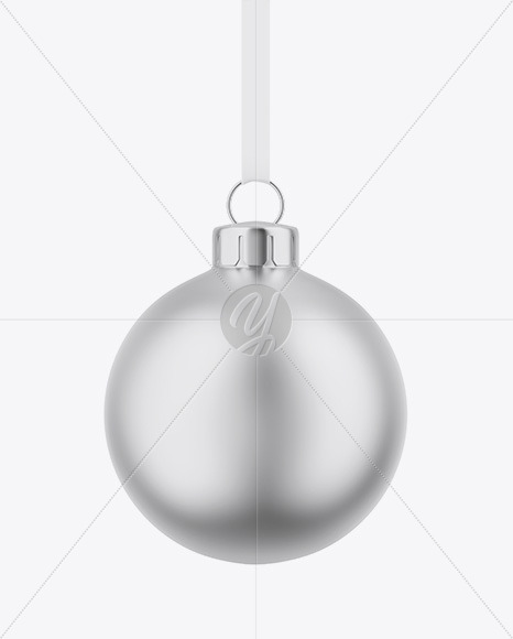 Matte Metallic Christmas Ball Mockup