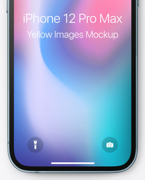 Apple iPhone 12 Pro Max Pacific Blue Mockup
