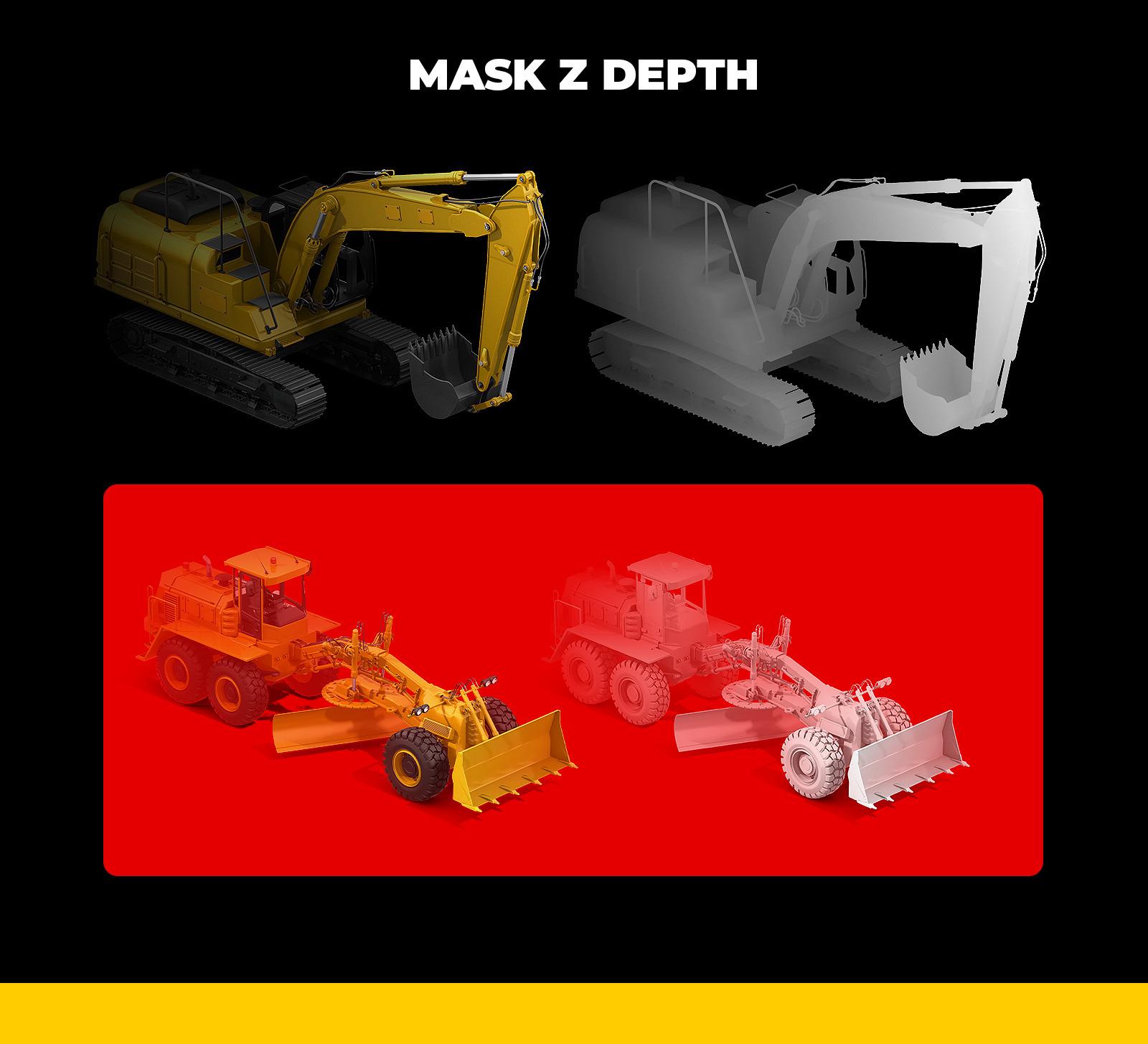 PSD Mockup 3D model Heavy Machines - Wheel Excavator #9