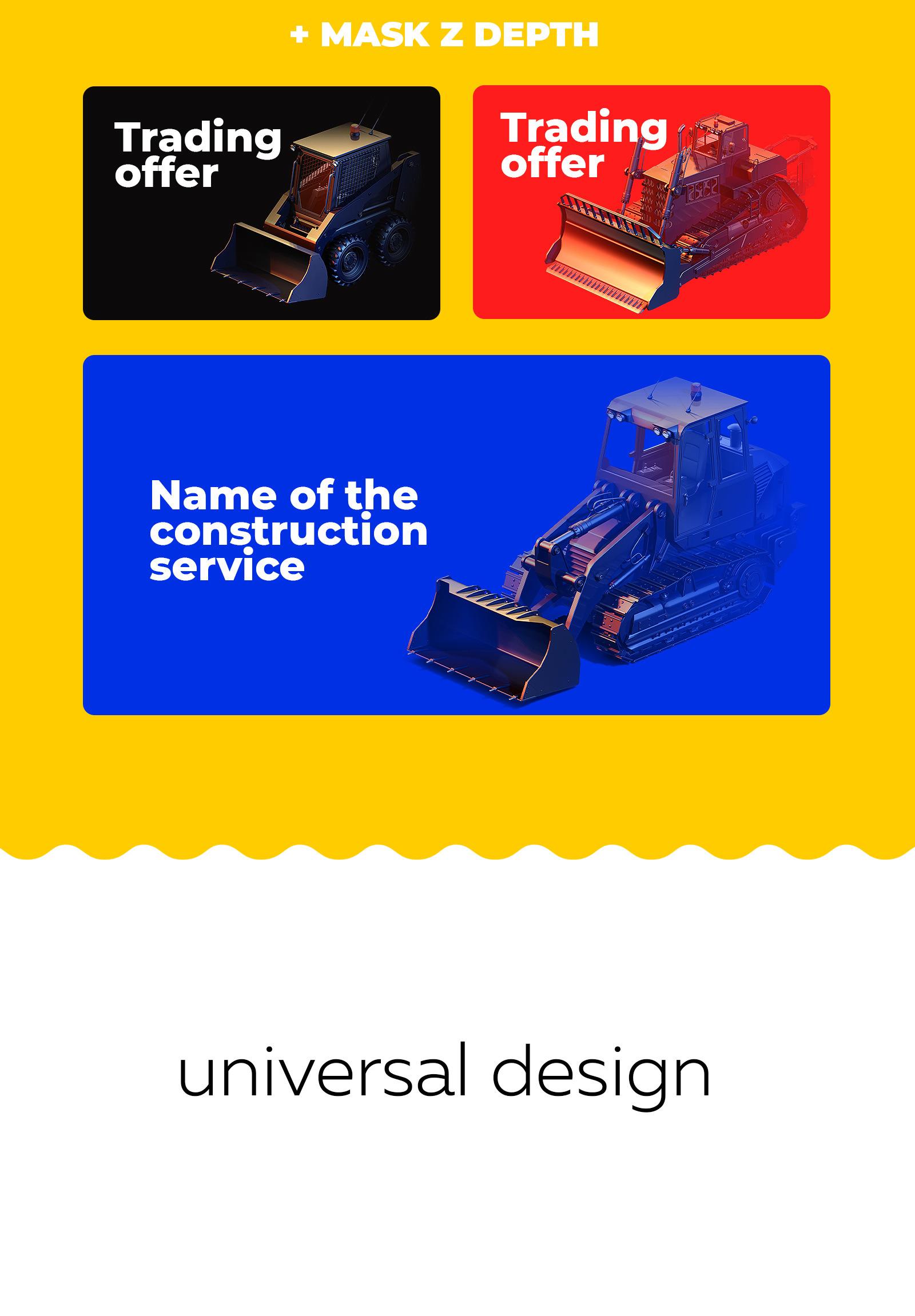 PSD Mockup 3D model Heavy Machines - Wheel Loader #10