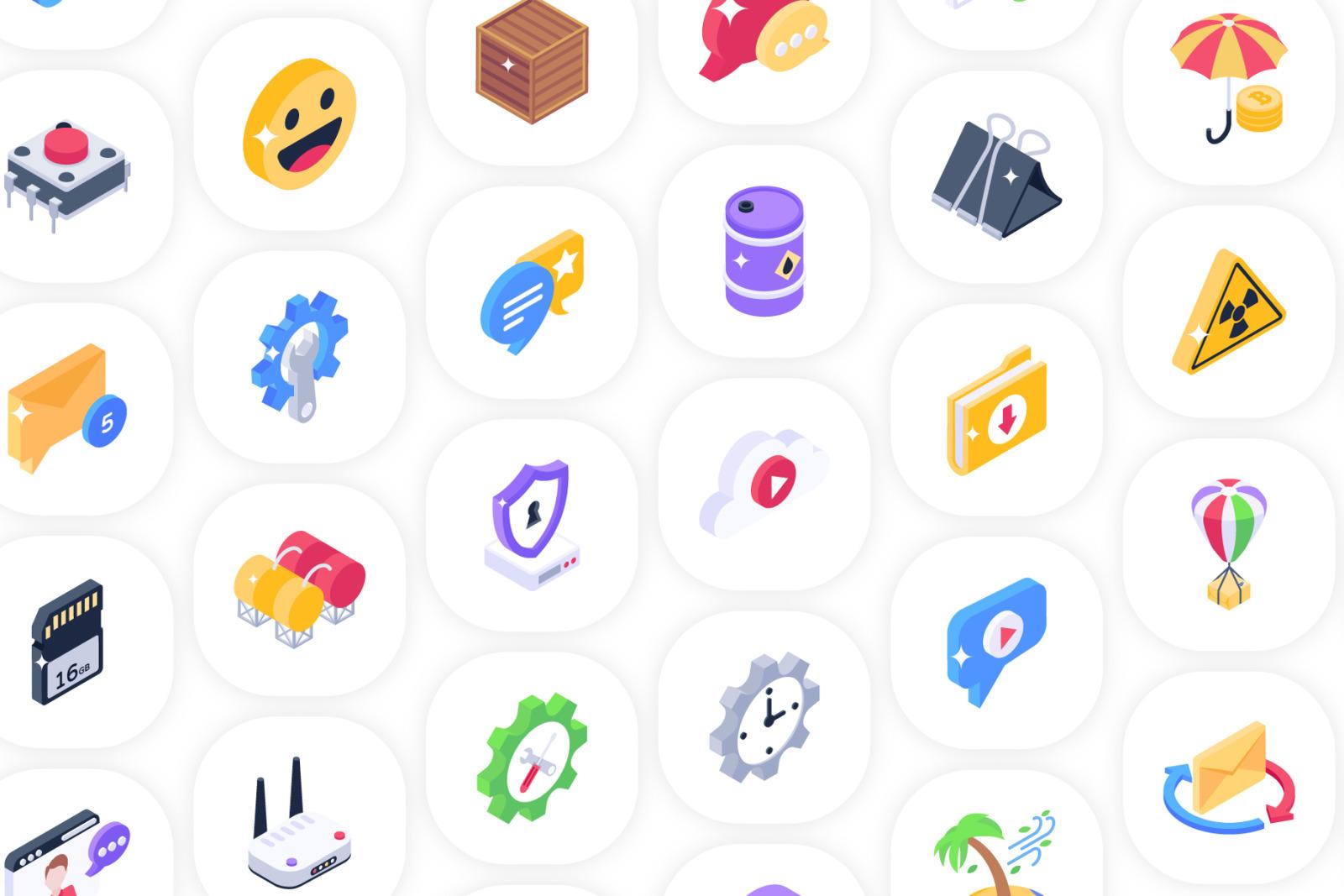 2500+ Isometric Icons