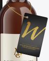 Amber Glass White Wine Bottle With Box Mockup