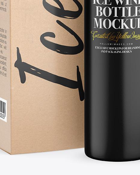 Ceramic Wine Bottle With Box Mockup