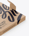 Kraft Paper Pizza Box With Handles Mockup