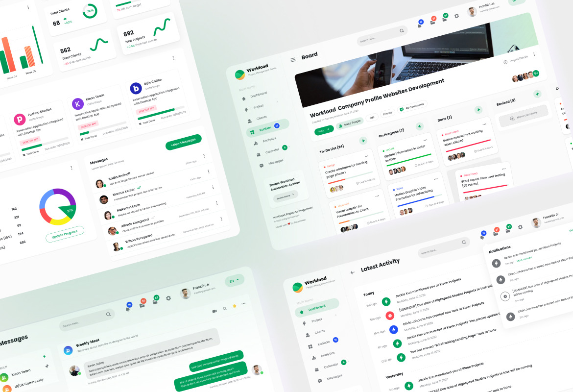 Workload - Project Management Admin Dashboard UI