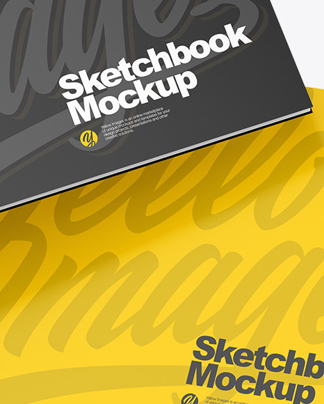 Two Sketchbooks Mockup