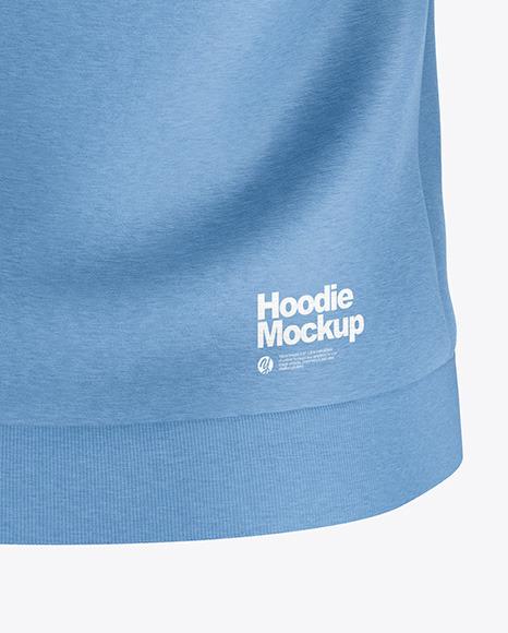 Heather Hoodie Mockup - Back View