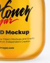 Glass Honey Jar With Clamp Lid Mockup