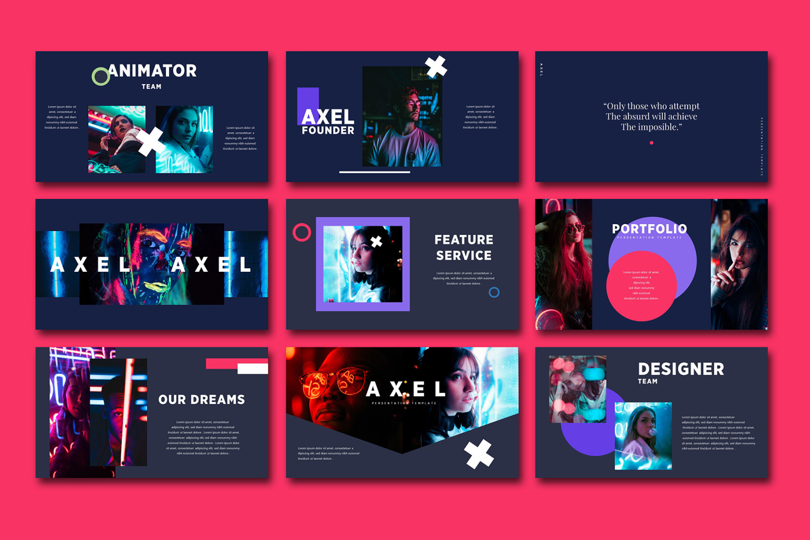 AXEL Powerpoint Template