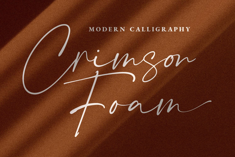 Crimson Foam Stylish Font