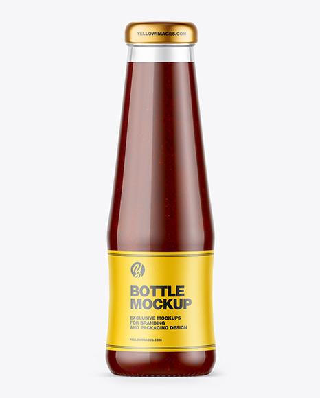 BBQ Sauce Bottle Mockup