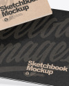 Two Kraft Paper Sketchbooks Mockup