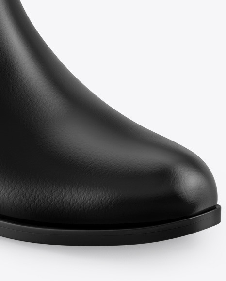 Glossy Leather Chelsea Boot Mockup