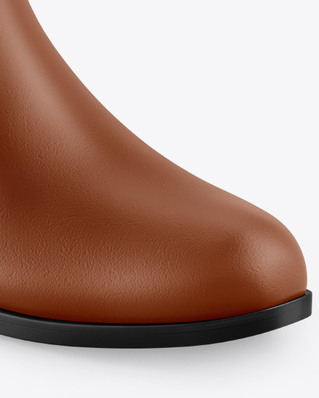 Matte Leather Chelsea Boot Mockup
