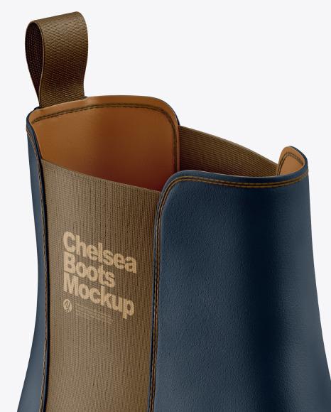 Suede Chelsea Boot Mockup