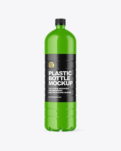 1.5L Glossy Plastic Bottle Mockup