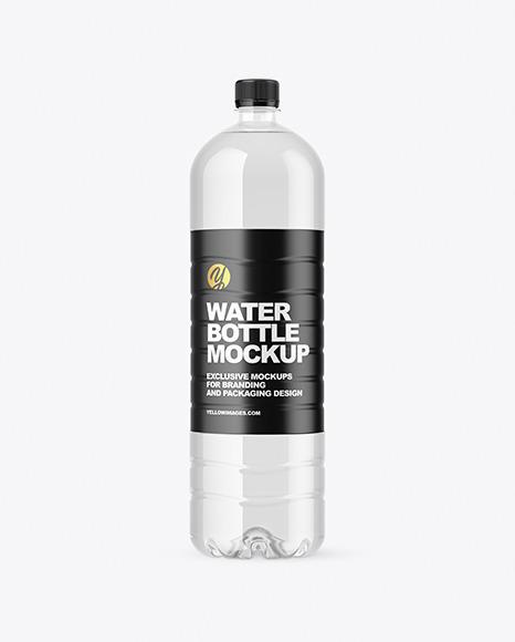 1.5L Clear Plastic Bottle Mockup