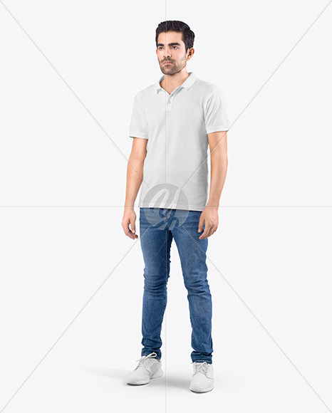 Man in T-Shirt and Jeans Mockup