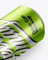 Metallic Drink Can Mockup