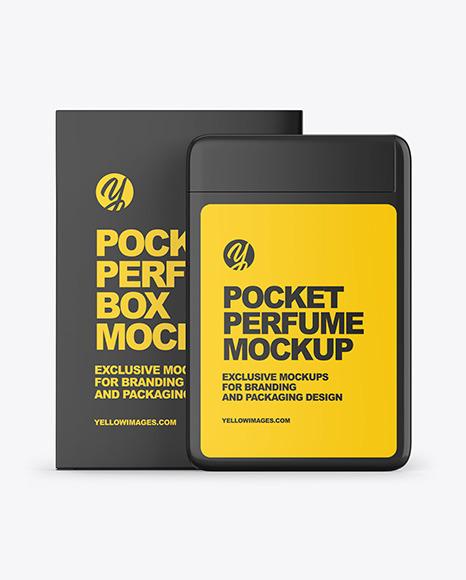 Pocket Perfume With Box Mockup