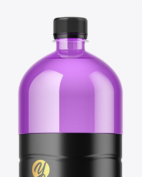 1.5L Colored Plastic Bottle Mockup