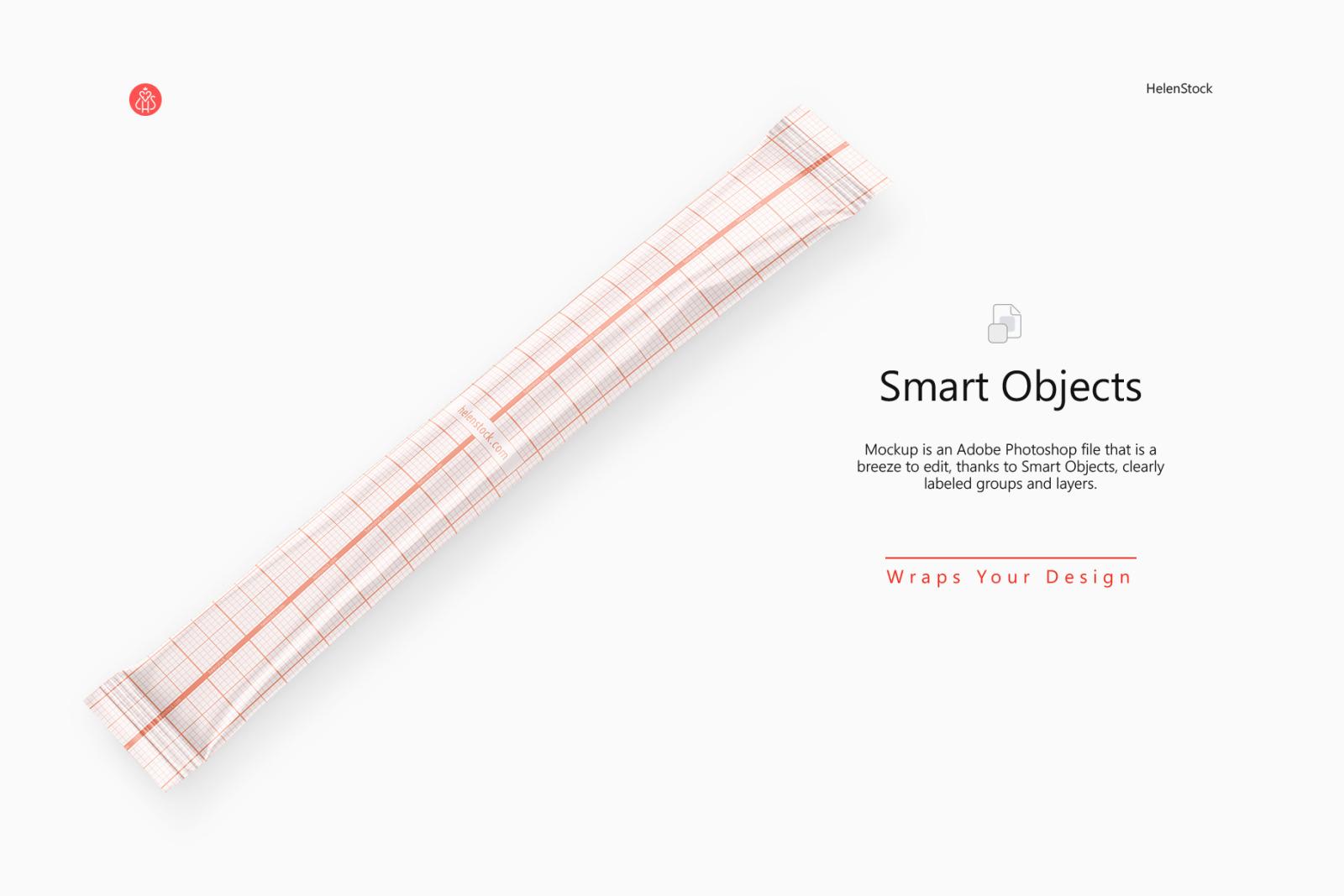 Stick Sachet Mockup – Half side View