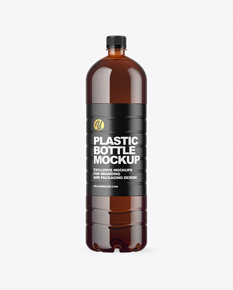 1.5L Amber Plastic Bottle Mockup