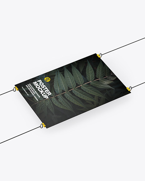 A3 Paper Poster w/ Pins Mockup